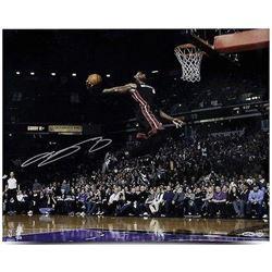 """LeBron James Signed Heat """"Flying"""" 16x20 Photo (UDA COA)"""