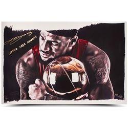 "LeBron James Signed Heat ""Magic Moments"" LE 16x24 Photo Inscribed ""2012 NBA Champs"" (UDA COA)"