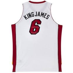 LeBron James Signed LE Heat  King James  Jersey Inscribed  King James  (UDA COA)