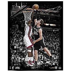 "LeBron James Signed Heat ""2013 NBA Finals"" LE 16x20 Photo (UDA COA)"