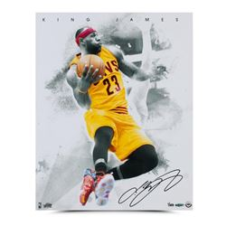 "LeBron James Signed Cavaliers ""Blow By"" LE 16x20 Photo (UDA COA)"