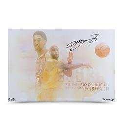 """LeBron James Signed Cavaliers """"Passing of the Forward"""" LE 16x24 Photo (UDA COA)"""