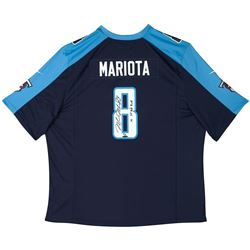 "Marcus Mariota Signed LE Titans Jersey Inscribed ""15 1st Round Pick"" (UDA COA)"