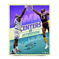 """Shaquille O'Neal Signed """"Centers of Attention"""" 20x24 Photo (UDA COA)"""