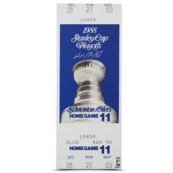 Wayne Gretzky Signed 1988 Stanley Cup 13x33 Mega Ticket (UDA COA)