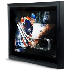 Wayne Gretzky Signed Oilers LE 16x24 Custom Framed Hockey Stick Blade Shadowbox Display (UDA COA)