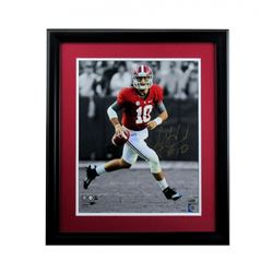 A.J. McCarron Signed Alabama Crimson Tide 27x33 Custom Framed Photo (Radtke COA)