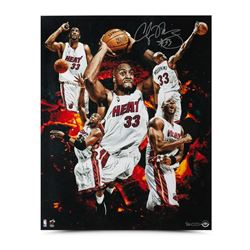 "Alonzo Mourning Signed Heat ""Zo"" 16x20 Photo Collage LE 33 (UDA COA)"