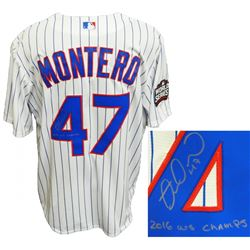 "Miguel Montero Signed Cubs ""2016 World Series"" Jersey Inscribed ""2016 WS Champs"" (Schwartz COA)"