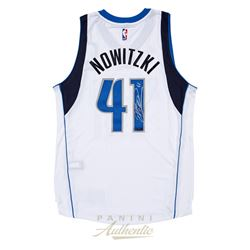 Dirk Nowitzki Signed Mavericks 2014 Authentic Adidas Swingman Jersey (Panini COA)