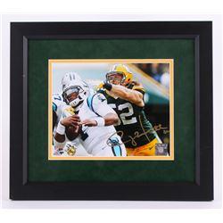 "Clay Matthews Signed 14.5""x16.5"" Custom Framed Photo Display (Matthews Hologram)"