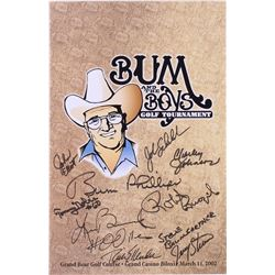 """""""Bum and the Boys Golf Tournament"""" 11x17 Poster Signed By (10) with Bum Phillips, Ken Burroughs, Rob"""