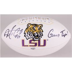 "Morris Claiborne Signed LSU Tigers Logo Football Inscribed ""Geaux Tigers!"" (Radtke COA)"