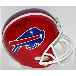 Jim Kelly Signed Bills Full-Size Helmet Inscribed  HOF 02  (Steiner COA)