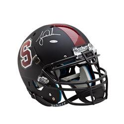 Tiger Woods Signed Stanford Cardinal Full-Size Matte Black Helmet (UDA COA)