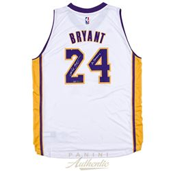 "Kobe Bryant Signed Lakers Limited Edition Jersey Inscribed ""20 Seasons"" #1/124 (Panini COA)"
