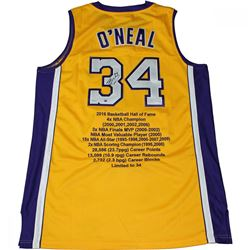 Shaquille O'Neal Signed Limited Edition Lakers Career Highlight Stat Jersey (Steiner COA)