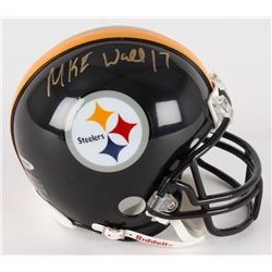 Mike Wallace Signed Steelers Mini-Helmet (UDA COA)
