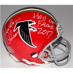 Morten Andersen Signed Falcons Mini Helmet Inscribed  Hall of Fame 2017  (Radtke Hologram)