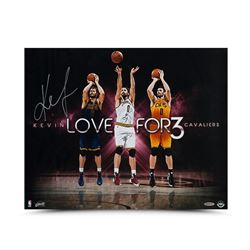 "Kevin Love Signed Cavaliers ""For Three"" 16x20 Photo (UDA COA)"