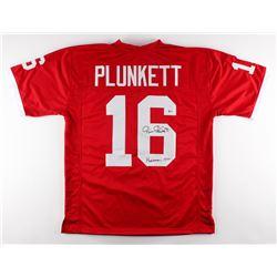 """Jim Plunkett Signed Stanford Cardinal Jersey """"Heisman 1970"""" (Beckett COA)"""