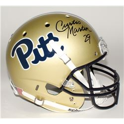 Curtis Martin Signed Pittsburgh Panthers Full-Size Helmet (GTSM Hologram)