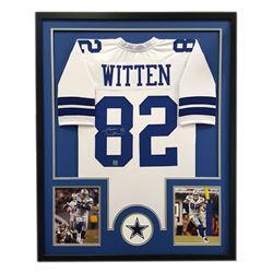 "Jason Witten Signed Cowboys 34"" x 42"" Custom Framed Jersey (Witten Hologram)"