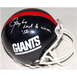 """Lawrence Taylor Signed Giants Mini Helmet Inscribed """"Last To Wear 56"""" (JSA COA)"""