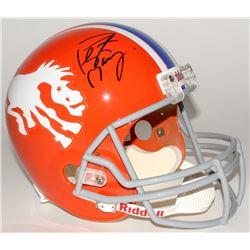 Peyton Manning Signed Broncos Throwback Full-Size Helmet (Fanatics Hologram)