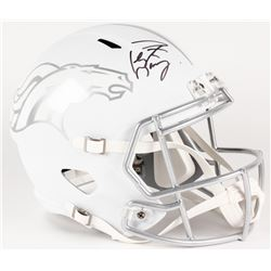 Peyton Manning Signed Broncos Custom Matte White Full-Size Speed Ice Helmet (Fanatics Hologram)