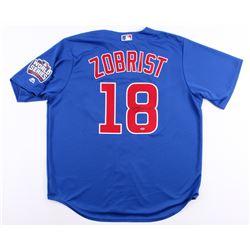 Ben Zobrist Signed Cubs 2016 World Series Jersey (Schwartz COA)