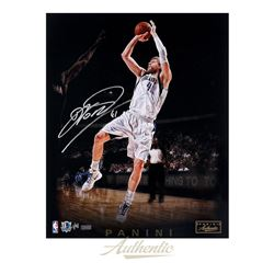 "Dirk Nowitzki Signed Mavericks ""Trademark"" 16x20 Photo LE of 50 (Panini COA)"