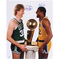 Magic Johnson  Larry Bird Signed 16x20 Photo (JSA  Bird Hologram)