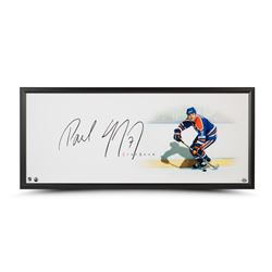 "Paul Coffey Signed Oilers ""The Show"" 20x46 Custom Framed Photo Display (UDA COA)"