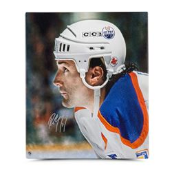 "Paul Coffey Signed Oilers ""Up Close  Personal"" 20x24 Photo on Canvas (UDA COA)"