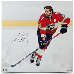 "Aaron Ekblad Signed Panthers ""Canvas Beginnings"" 24x24 Photo on Canvas (UDA COA)"