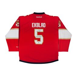 "Aaron Ekblad Signed Panthers Premier Jersey Inscribed ""2014 #1 Pick"" (UDA COA)"