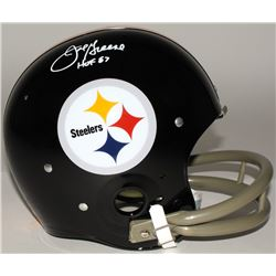 "Joe Greene Signed Steelers Full-Size TK Suspension Helmet Inscribed ""HOF 87"" (JSA COA)"