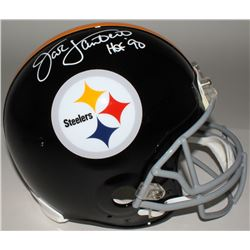 "Jack Lambert Signed Steelers Full-Size Authentic On-Field Helmet Inscribed ""HOF' 90"" (JSA COA)"