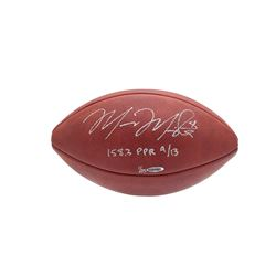 """Marcus Mariota Signed LE Official NFL Game Ball Inscribed """"158.3 PPR 9/13"""" (UDA COA)"""