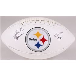 "Jack Ham Signed Steelers Logo Football Inscribed ""CHOF 90"" (JSA COA)"