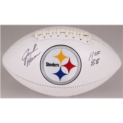 "Jack Ham Signed Steelers Logo Football Inscribed ""HOF 88"" (JSA COA)"