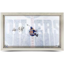 Wayne Gretzky Signed Oilers 18.5x30.5 Custom Framed Acrylic Display (UDA COA)