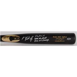 "Kris Bryant Signed LE Chandler Player Model KB17 Maple Baseball Bat Inscribed ""2016 NL MVP"", ""2016 W"
