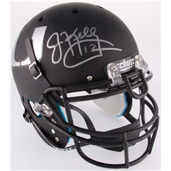 Jim Kelly Signed Miami Hurricanes Custom Matte Black Full-Size Authentic On-Field Helmet (Beckett Ho