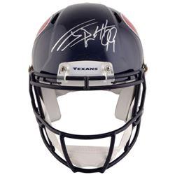 J.J. Watt Signed Texans Full-Size Authentic On-Field Speed Helmet (Steiner)