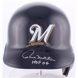 "Paul Molitor Signed Brewers Full-Size Batting Helmet Inscribed ""HOF 04"" (MLB Hologram)"