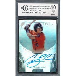 2013 Bowman Sterling Prospect Autographs Refractors #CC Carlos Correa #067/150 (BCCG 10)