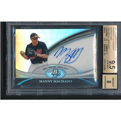 2011 Bowman Platinum Prospect Autograph Refractors #MM Manny Machado (BGS 9.5)