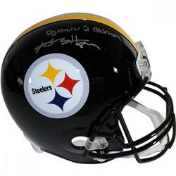 "Antonio Brown Signed Steelers Full-Size Helmet Inscribed ""Business Is Boomin"" (Steiner COA)"